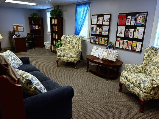 """The Red Lion Senior Center has a """"resource room"""" for seniors that features a small library, and information on assistance, medical and activities. Thursday October 15, 2015.   John A. Pavoncello - jpavoncello@yorkdispatch.com"""