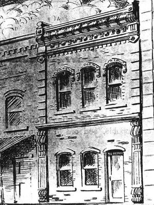 This drawing of the original 1871 Democratic Statesman building was discovered in a recently unearthed typewritten history of the American-Statesman dated to 1956. This structure probably stood at 813 Congress Ave. and was later demolished.