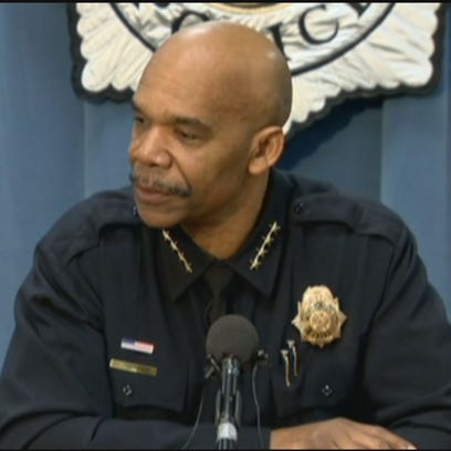 Chief Robert White initially said the officer was struck