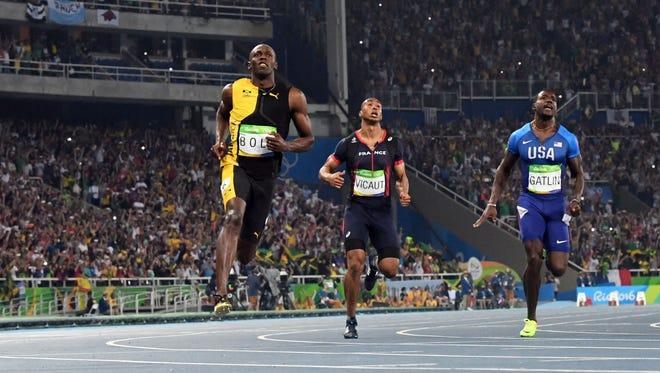 Usain Bolt wins the 100 again.
