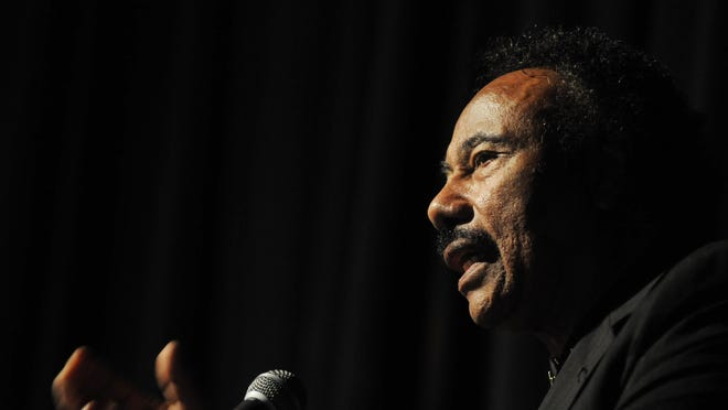 In this file photo, Martin Luther King Jr. Breakfast Community Honoree John Flowers speaks at the ceremony in City of Poughkeepsie in 2012.