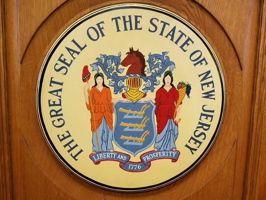 The New Jersey state seal.