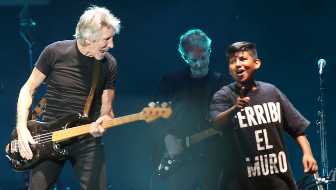 Roger Waters performs at Desert Trip in Indio, October 9, 2016.