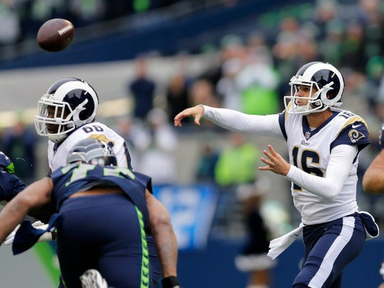 In his second year, Rams quarterback Jared Goff showed