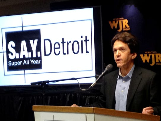Mitch Albom of S.A.Y. Detroit, raised more than $800,000