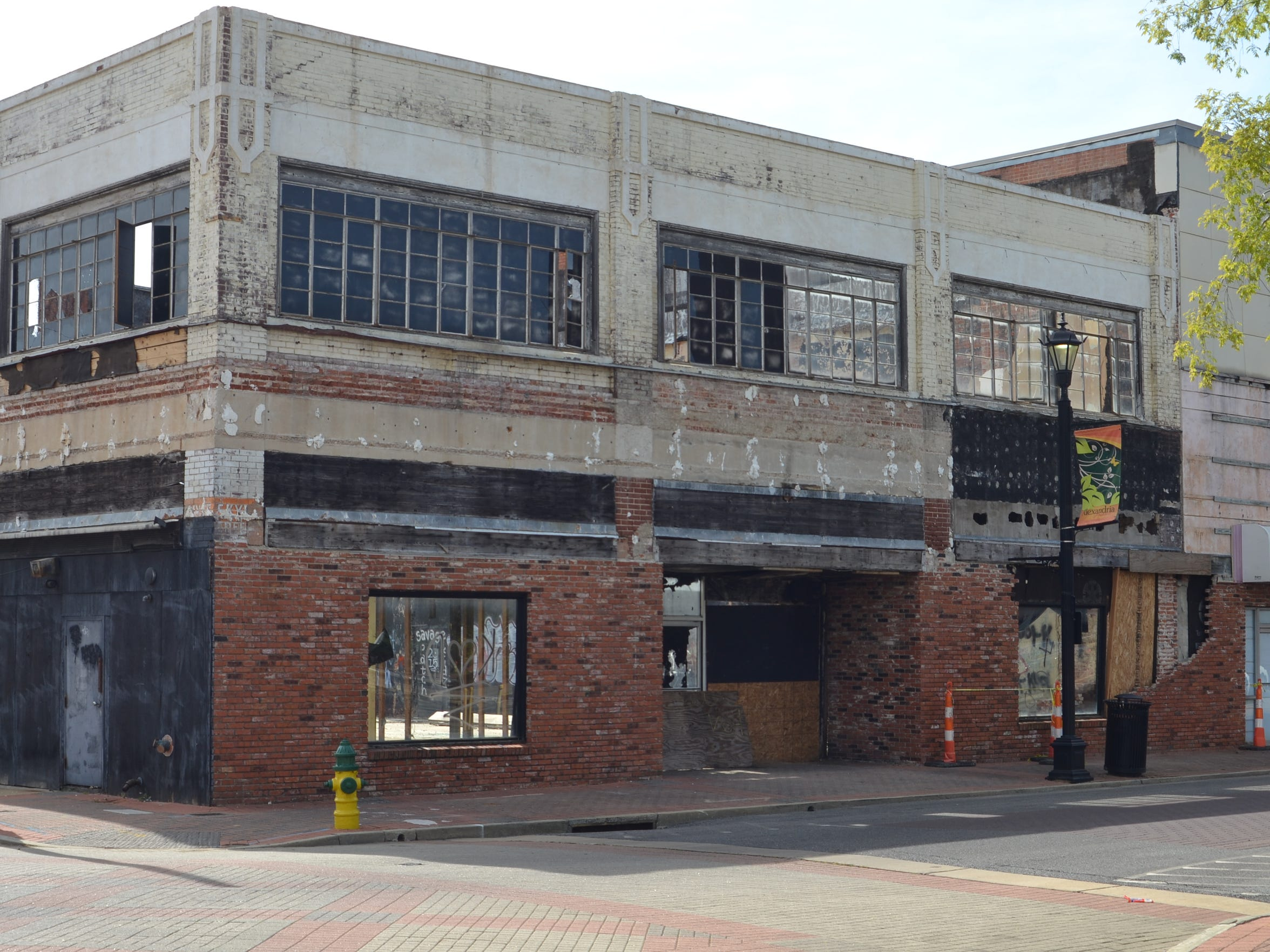 Years of neglect have left the Skye Building, one of Alexandria's historically busiest commercial buildings, in peril.
