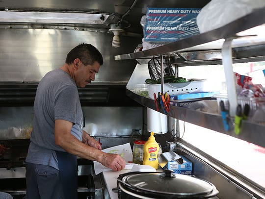 Rogelio Gonzalez, co-owner of a food truck called The