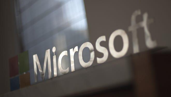 The Microsoft logo.