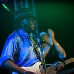 Blues Hall of Famer Joe Louis Walker kicked off last year's Lancaster Roots and Blues Festival.