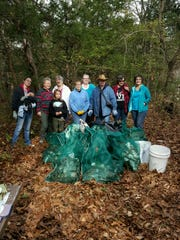 The groups collected over 18 bags of trash during their cleanup in October of 2016.