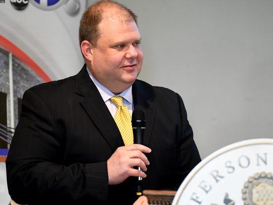 Jefferson Award representative Brady Tanner announces