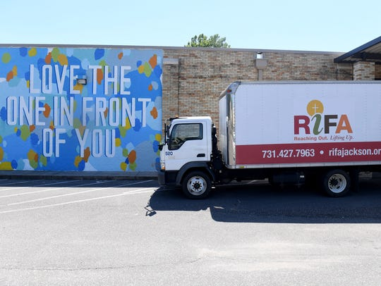 A new mural has been painted on the side of RIFA by