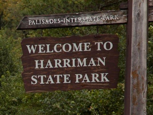 LH Landmark Harriman State Park sign