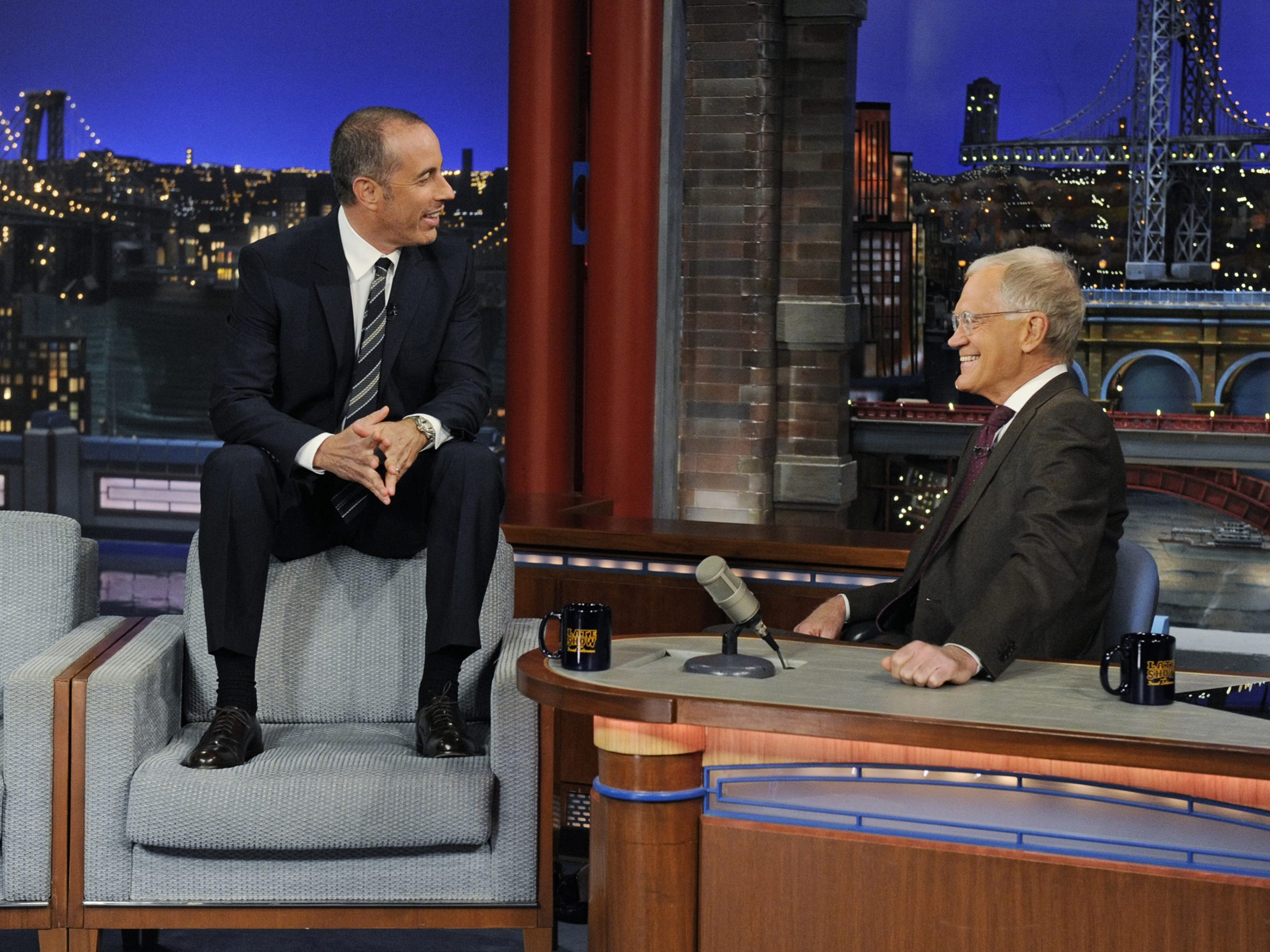 David Letterman interviews comedian Jerry Seinfeld