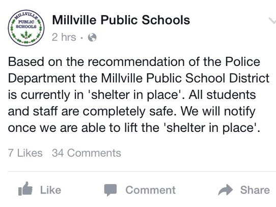 """An update regarding the """"shelter in place"""" is issued"""