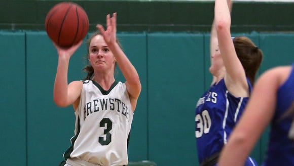 Brewster's Maggie DePaoli (3) puts up a shot in front