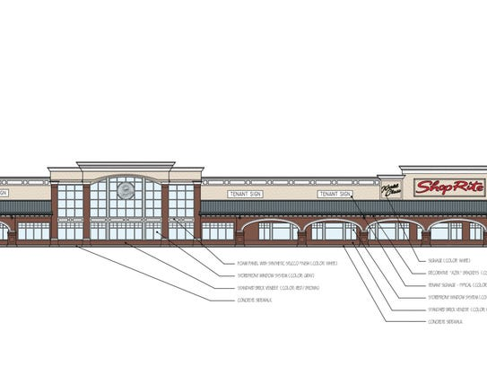 A drawing of the new ShopRite under construction in