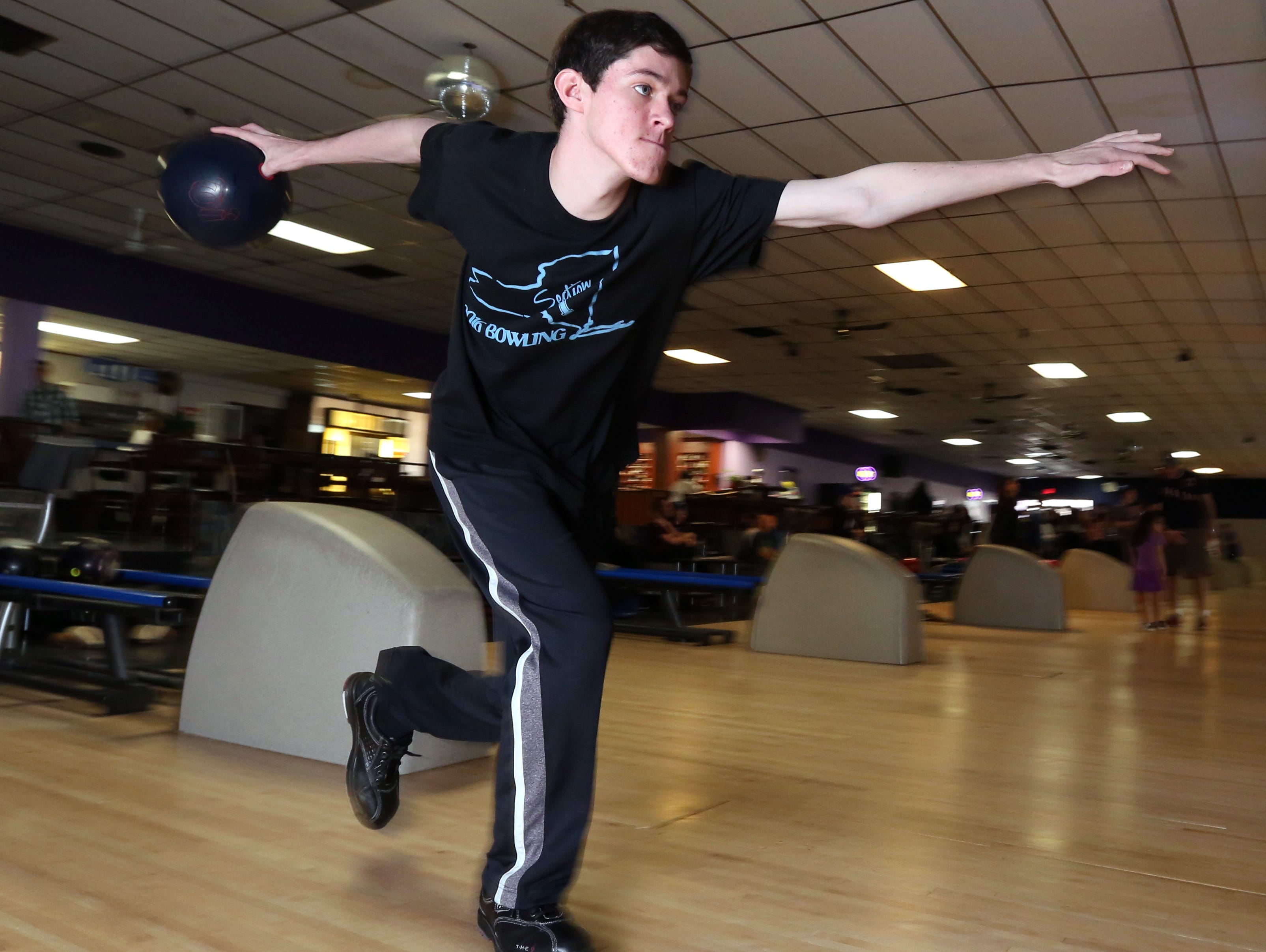 Rockland bowler of the year Brandon Smith of Clarkstown at New City Bowl March 25, 2016.