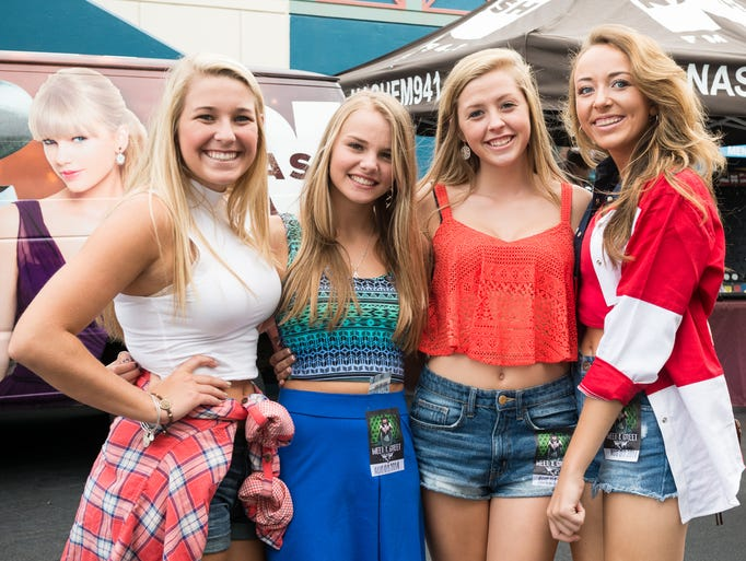 Meghan Millay, Morgan Beach, Taylor Potts and Kassidy Schreiber at Riverbend for the Toby Keith concert on August 8.