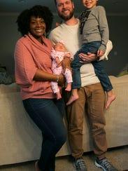 Gabrielle Flowers Rader, with her daughter Reagan Rader,