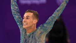 Adam Rippon (USA) competes in the men's figure skating