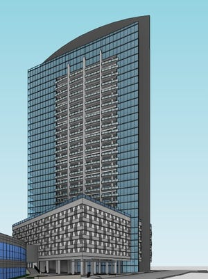 A 35-story luxury residential tower is proposed at 852 Demonbreun St. in SoBro.