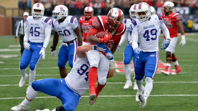Louisiana Tech's defense will be tested in the bowl game against a Navy team that averages more than 325 rushing yards per game.