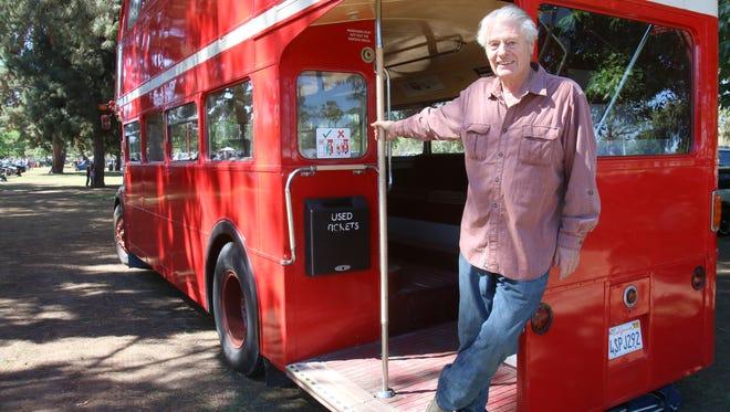 Michael Harper-Smith of Tarzana at the Queen's English car show