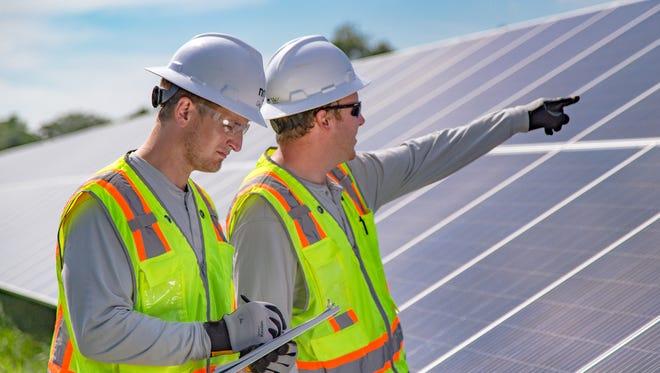 NRG Community Solar works with solar panels.