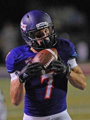 Northwestern State junior Ed Eagan (7) claimed three spots — wide receiver, all-purpose and punt returner — on the Southland Conference's all-conference first team that was released Tuesday. Eagan led the conference with 82 receptions for 978 yards and seven touchdowns while also leading the league in all-purpose yardage with 181 per game.