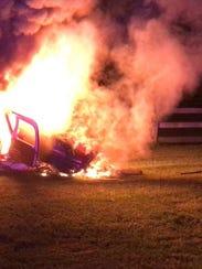 A small-plane crash Saturday night in Hunterdon County