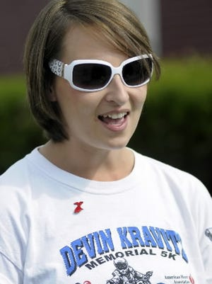 This T-shirt edition worn 10 years ago by Liz Kravitz, the late Devin Kravitz's sister, could be a winner at this year's virtual Devin Kravitz Memorial 5K.