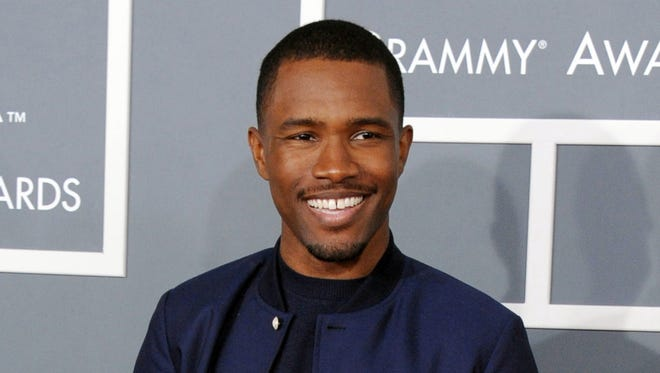 """In this Feb. 10, 2013 file photo, Frank Ocean arrives at the 55th annual Grammy Awards in Los Angeles. Apple Music has released new and long-awaited music from Grammy award-winning singer, Ocean. The company tweeted a link to the music video """"Endless"""" by the R&B artist on Thursday night, Aug. 18."""