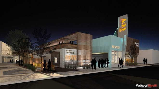An artist's rendering of plans for 1401 S. Virginia St. show drive-thru areas, plus retail and other space.