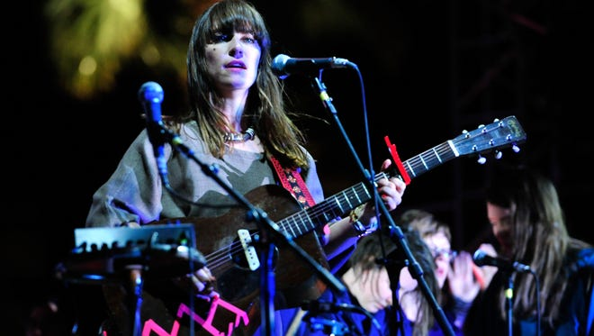 Leslie Feist of the band Feist performs during Day 2 of the 2012 Coachella festival on April 14, 2012.