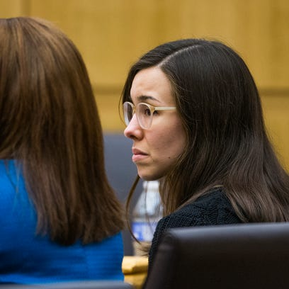 Jodi Arias listens as Judge Sherry Stephens declares