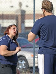 Assistant track & field coach Bethany Anderson talks