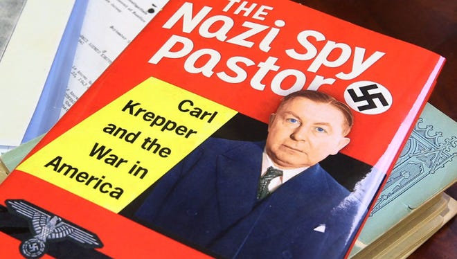 """The Reverend Frank Watson of Christ Lutheran Church of Whiting talks about the book he wrote """"The Nazi Spy Pastor, Carl Krepper and the War in America"""". It details the life of a Lutheran pastor who served as a Nazi spy in the 1930's and 40""""s here in New Jersey. Manchester, NJThursday, December 3, 2015@dhoodhood"""