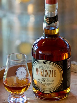 McKenzie Rye Whiskey is made from local rye grain and aged in new charred oak casks and finished in sherry barrels from local wineries.