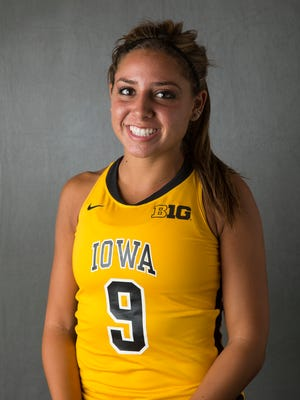 Iowa Hawkeyes forward Natalie Cafone