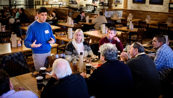 York Daily Record/Sunday News editors Scott Blanchard, left, Susan Martin and Scott Fisher met with several readers in February to discuss the YDR's coverage.