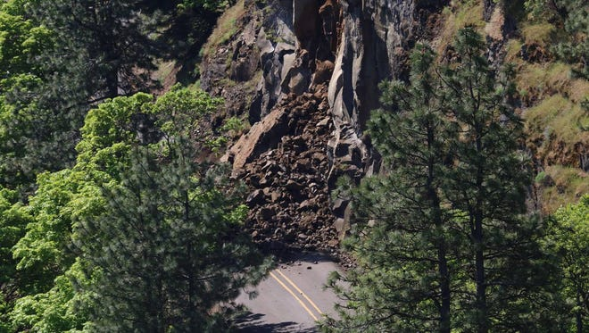 A landslide has closed Highway 30.
