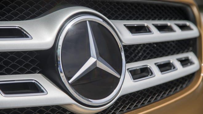 The Mercedes-Benz badge.
