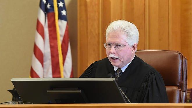 Stephen J. Schapanski sentences a man Dec. 17, 2015, in Eighth Judicial District Court. . Schapanski will retire on Jan. 10, 2017.