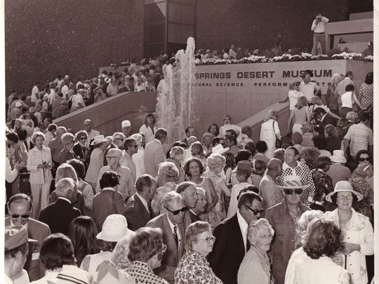 Opening day of the Palm Springs Art Museum on Jan. 26, 1976. Nearly 4,000 people attend the ceremony.