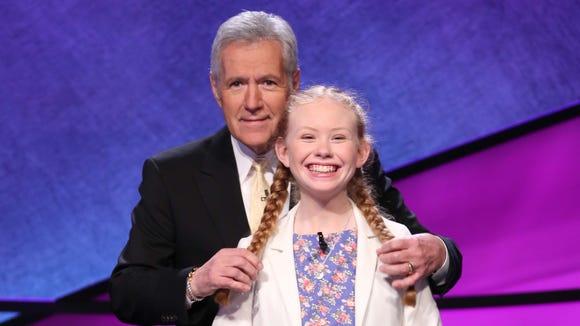 Eileen Bunch with 'Jeopardy!' host Alex Trebek.