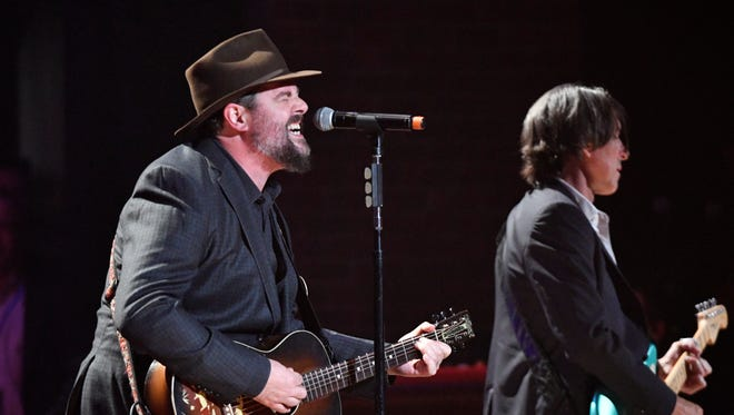 Patterson Hood and Mike Cooley of the Drive-By Truckers perform at the Americana Music Honors & Awards 2017 Wednesday, Sept. 13, 2017 at the Ryman Auditorium in Nashville, Tenn.