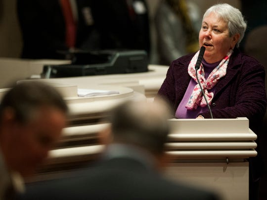 Representative Patricia Todd during the legislative session at the Alabama Statehouse in Montgomery, Ala. on Tuesday February 9, 2016.