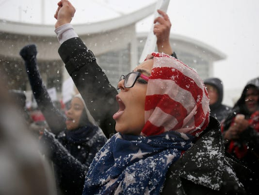 USP NEWS: REFUGEE PROTESTS USA MI