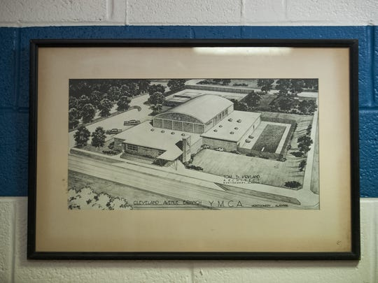 An architect's drawing of the original Cleveland Avenue YMCA in Montgomery.